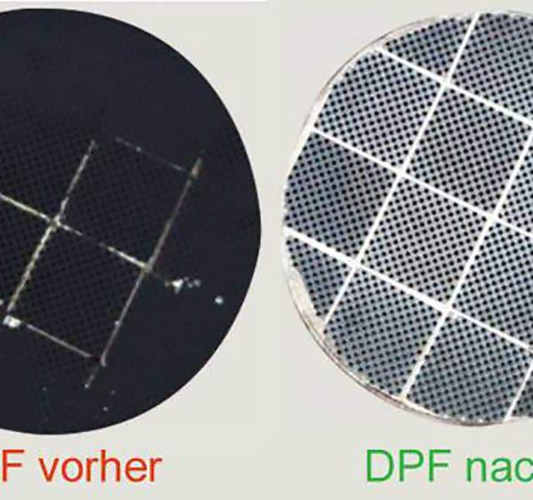 Dieselpartikelfilter vorher nachher Motor Vital