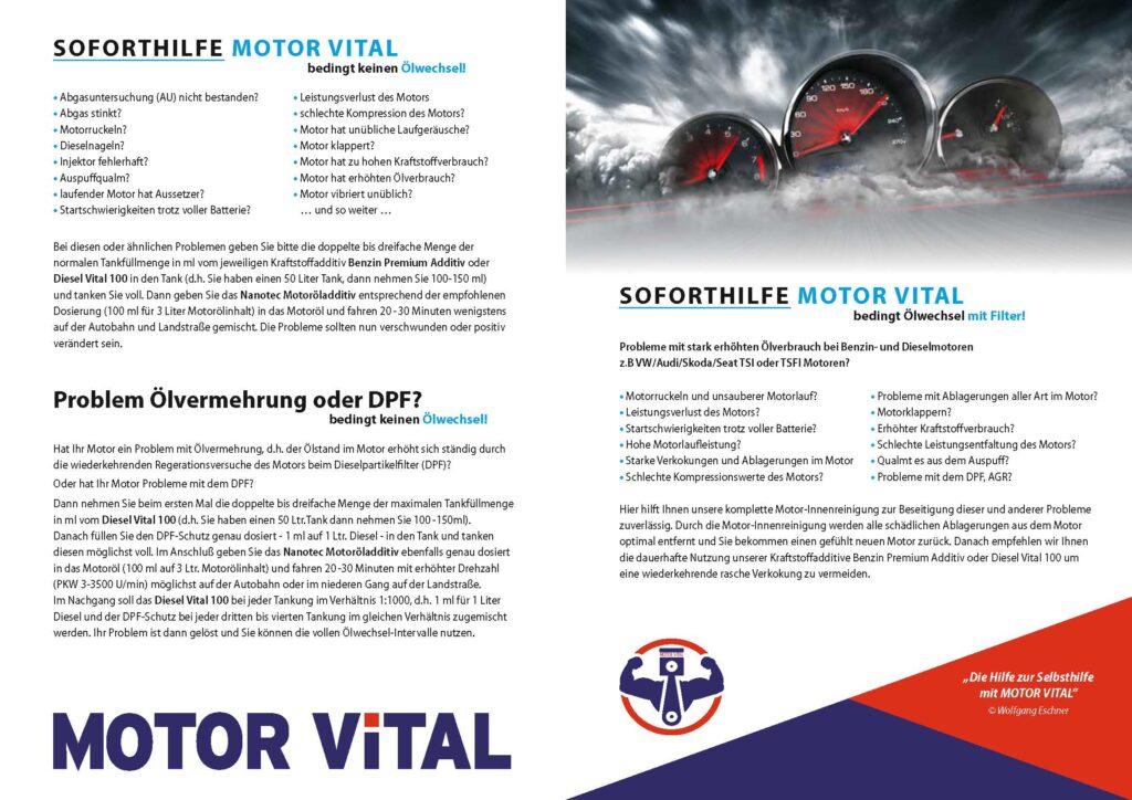anleitung fuer anwendung Seite 1 Motor Vital
